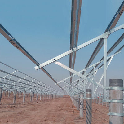 Hot Dip Galvanized Steel Solar Panel Ground Mounting Systems Ground Plant Pile